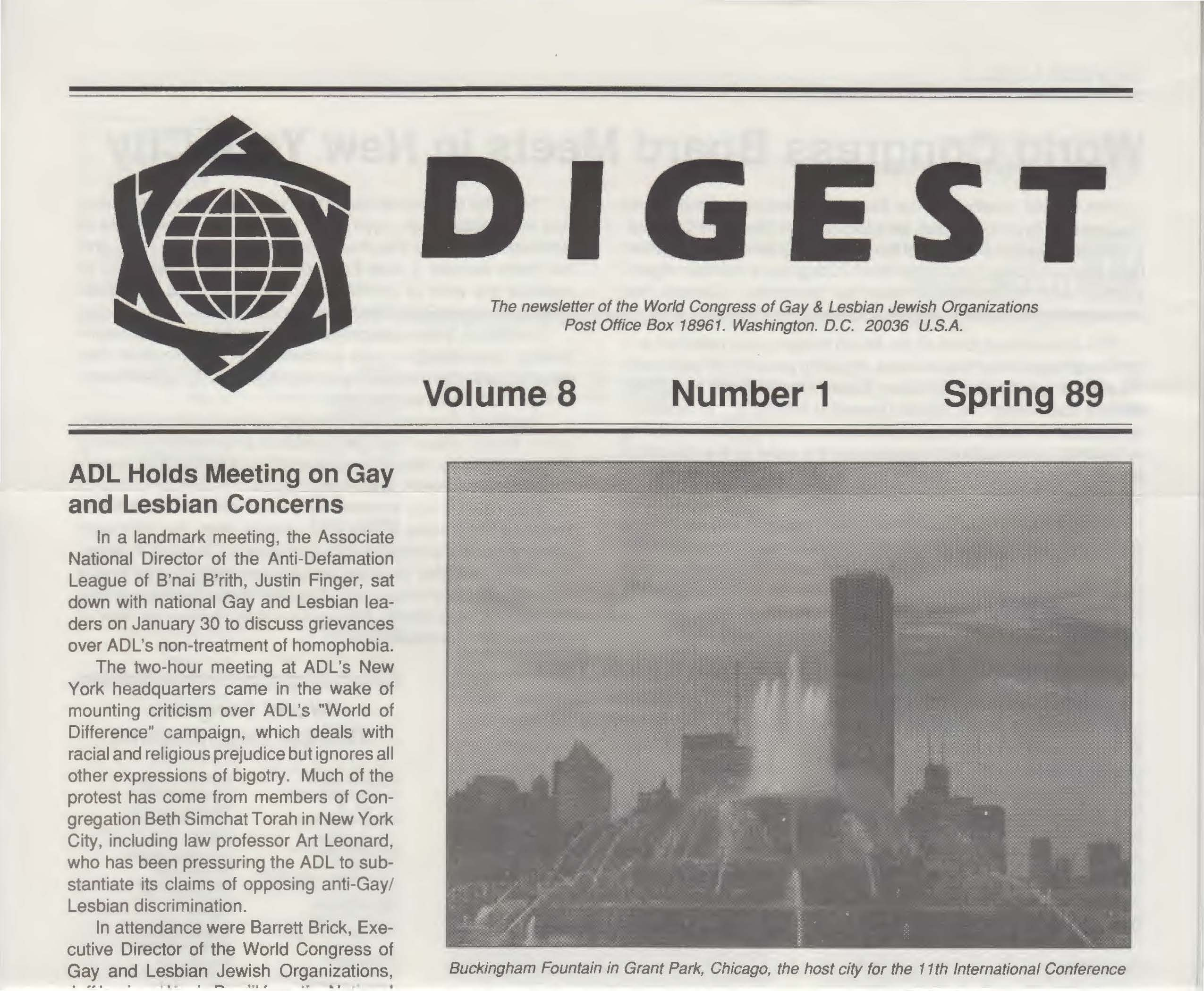 World Congress Digest Spring 1989