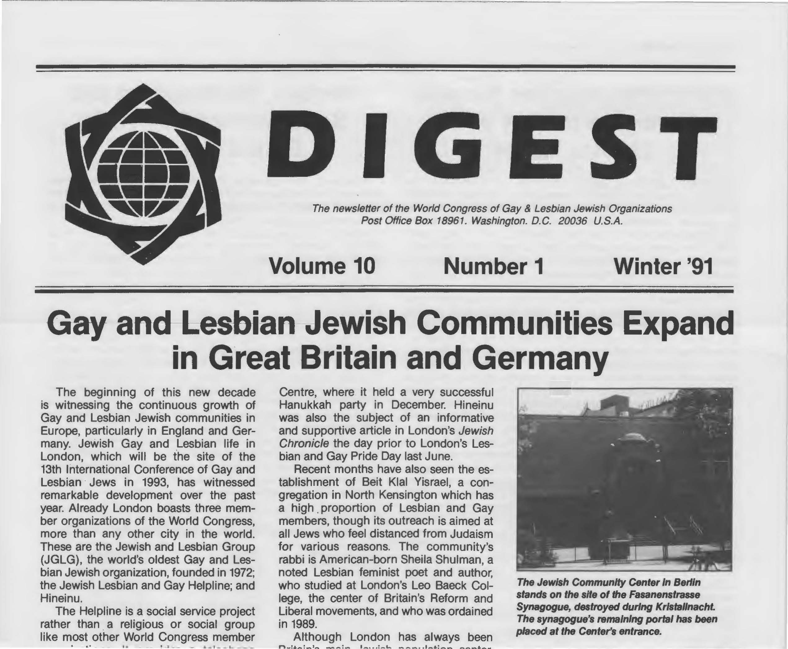 World Congress Digest Winter 1991
